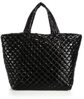 M Z Wallace Metro Large Lacquered Quilted Nylon Tote