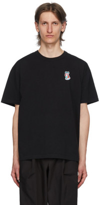 MAISON KITSUNÉ Black ACIDE Fox Patch T-Shirt