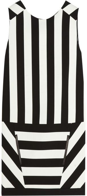 Maje Curd striped woven mini dress