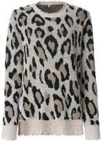 R 13 leopard pattern jumper