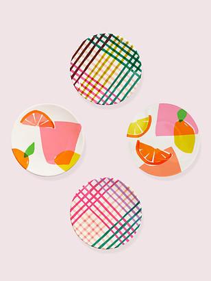 Kate Spade Citrus Celebration Tidbits Plate Set