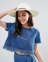 Liquorish Floppy Straw Hat