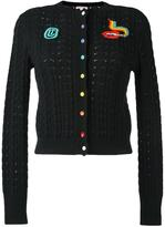 Olympia Le-Tan beaded cable knit cardigan - women - Cotton - S