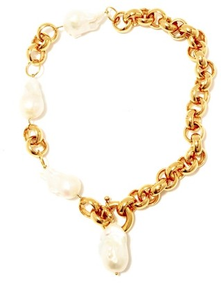 Timeless Pearly Baroque Pearl & 24kt Gold-plated Necklace - Pearl