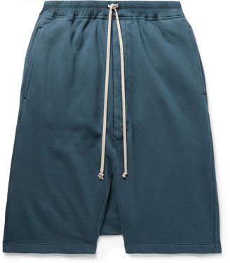 Rick Owens Drkshdw Pods Fleece-Back Cotton-Jersey Drawstring Shorts