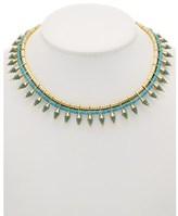 Noir 14k Plated Turquoise Statement Necklace.