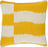 Madeline Weinrib Striped Ikat Silk-Cotton Pillow-YELLOW