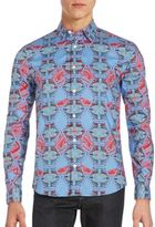 Melindagloss Abstract-Patterned Cotton Sportshirt