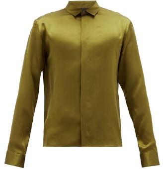 Haider Ackermann Silk-satin Shirt - Khaki