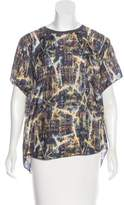 Theyskens' Theory Silk Printed Top