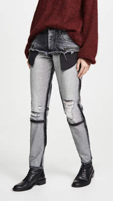 Unravel Project Moonwash Double Layer Jeans