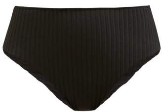 Araks Ulla Ribbed High Rise Bikini Briefs - Womens - Black