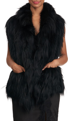 Gorski S-Cut Fox Fur Ruffle Pocket Stole