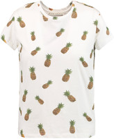 Alice + Olivia Robin bead-embellished printed cotton-jersey T-shirt
