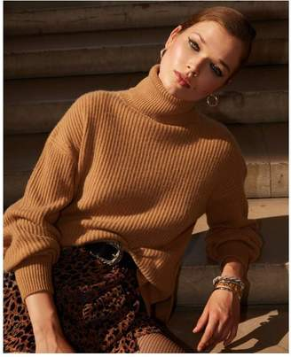 The Kooples Camel-coloured cashmere sweater w/turtleneck