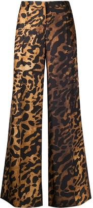 Alberto Biani Leopard-Print Flared Trousers