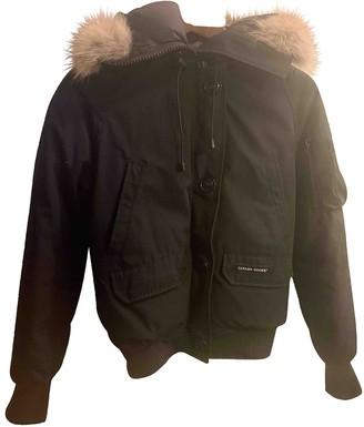 Canada Goose Montebello Black Fur Coat for Women