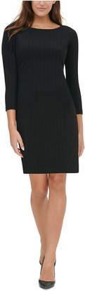 Tommy Hilfiger Petite 3/4-Sleeve Sweater Dress