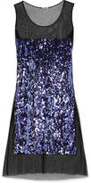 Miu Miu Sequin-embellished Cotton-tulle Midi Dress - Purple