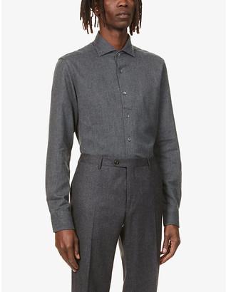 Corneliani Regular-fit cotton-flannel shirt
