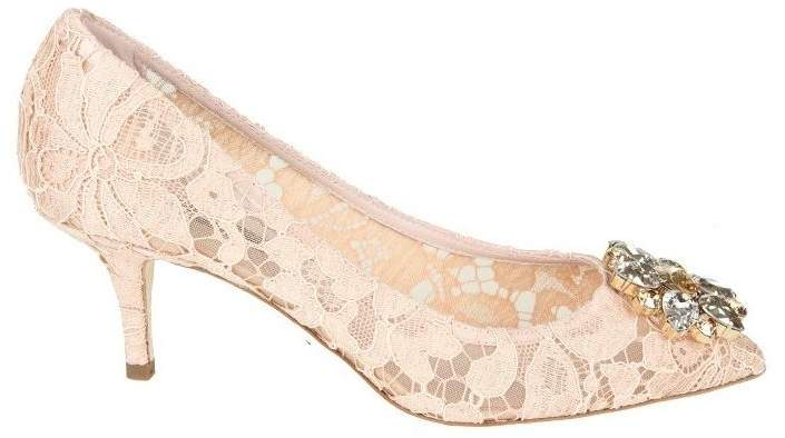 Dolce & Gabbana Decollete In Lace Taormina Color Cipria