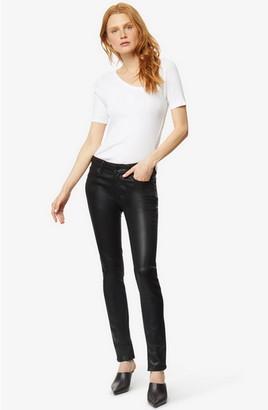 Singer22 Cressa High Rise Coated Skinny Jean With Side Slit