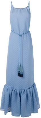 Framed Circle tiered maxi dress