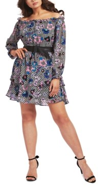 GUESS Hannah Tiered Floral-Print Dress