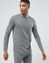 Asos Longline Long Sleeve T-shirt In Neppy Fabric