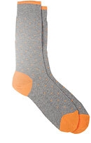 Barneys New York Men's Dotted Mid-Calf Socks-GREY