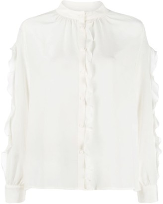 BA&SH Frill Trim Blouse