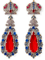 Ralph Lauren Swarovski Crown Earrings
