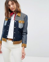 Wrangler x Peter Max Western Denim Jacket with Cord Detail