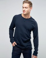 Abercrombie & Fitch Long Sleeve Top Waffle In Navy