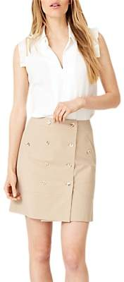Damsel in a Dress Fia Safari Skirt, Neutral Stone
