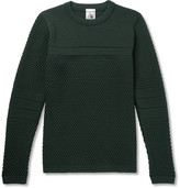 S.N.S. Herning Torso Textured-knit Wool Sweater - Green