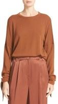 Tibi Tie Sleeve Merino Wool Pullover