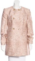 Stella McCartney Metallic Double-Breasted Coat