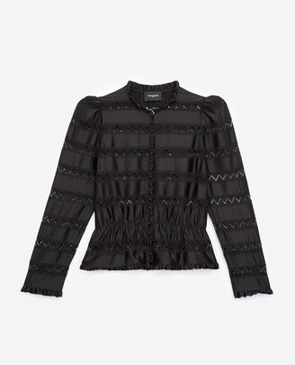 The Kooples Black lace top with elastic waist