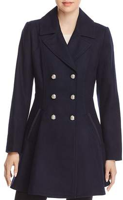 Laundry by Shelli Segal Double-Breasted Button Front Military Coat