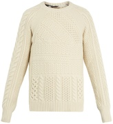 Burberry Linley cable-knit wool and cashmere-blend sweater