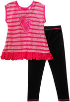 Youngland Young Land 2-pc. Top and Leggings Set - Toddler Girls 2t-4t