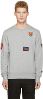 Alexander McQueen Grey Patches Pullover