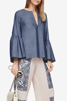 BCBGMAXAZRIA Suzie Chambray Top