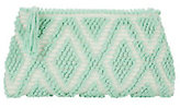Antonello Tedde Piatta Rombi Mint Green Clutch