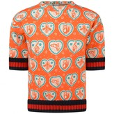 Gucci GUCCIBaby Girls Orange Bee Print Sweatshirt