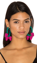Mercedes Salazar Candongas Fresas Earrings in Pink.