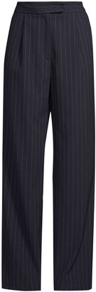 Nicole Miller Pleat-Detailing Pinstripe Trousers