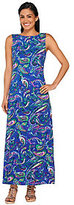 Liz Claiborne New York Regular Paisley Print Knit Maxi Dress