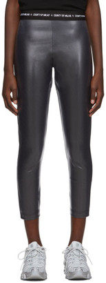 Marcelo Burlon County of Milan Grey Shiny Leggings